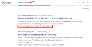 bluehost-review-Google-Search